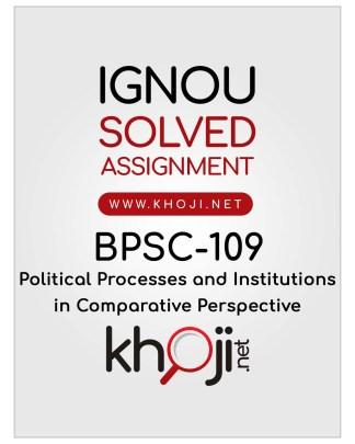 BPSC-109 Solved Assignment English Medium IGNOU BA Honours
