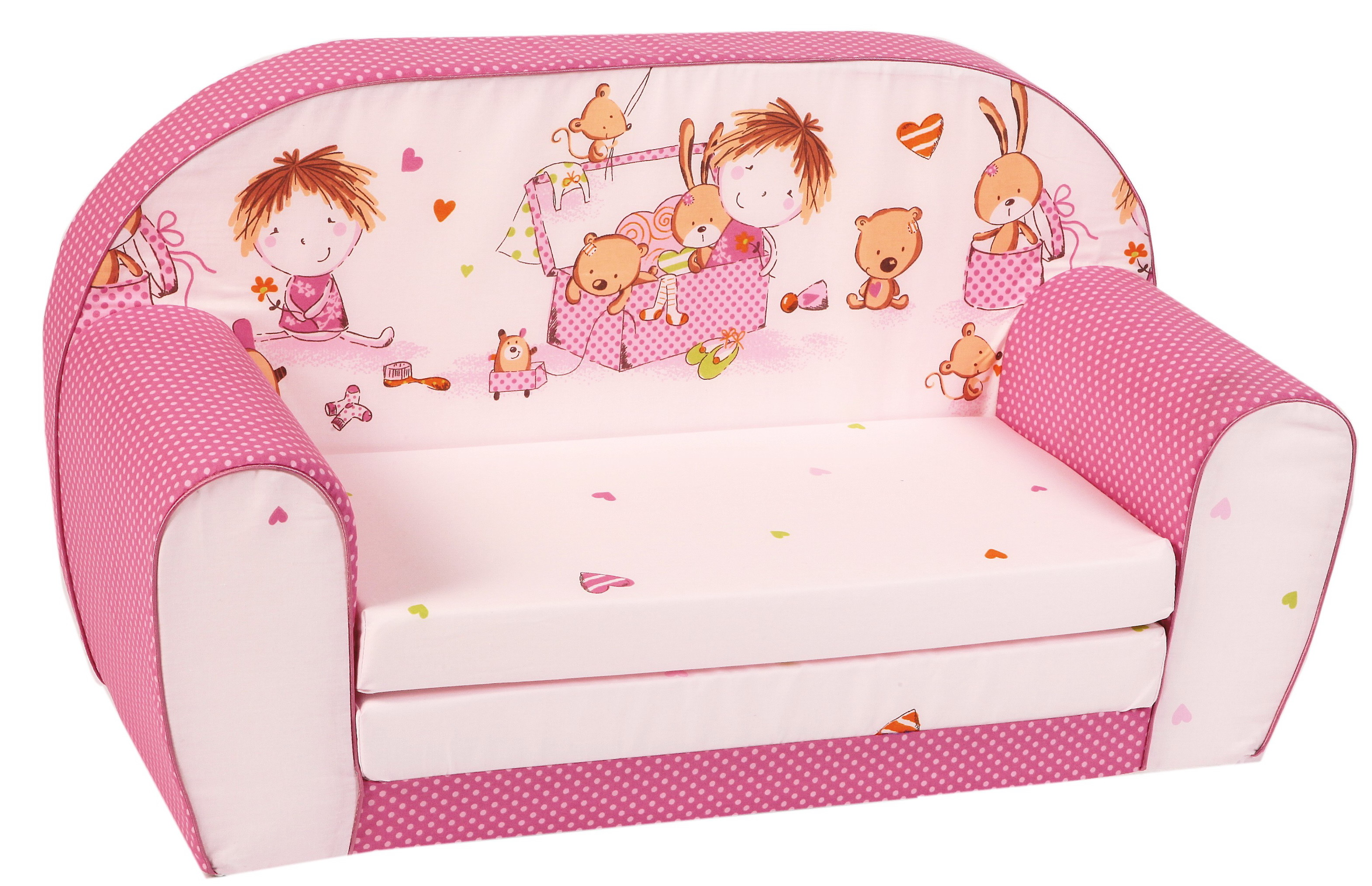 mini sofas para ninos black and gold sofa pillows knorr baby gmbh kinder schlafsofa quotspielzimmer pink