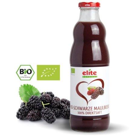 ELITE NATUREL - Schwarze Maulbeere Bio-Direktsaft - karadut suyu