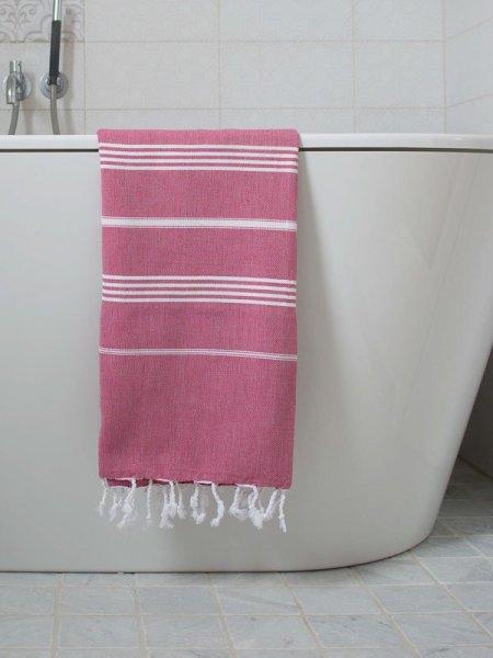 Wundervolle, leichte Hamamtücher Pestemal Pestemal Fouta aus 100% Baumwolle in Rosa