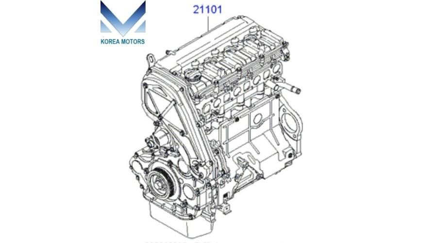 NEW DIESEL ENGINE D4CB SUB ASSY SET FOR HYUNDAI KIA