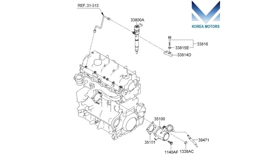 NEW INJECTOR ASSY-FUEL FOR EURO-3 DIESEL ENGINES D4EA