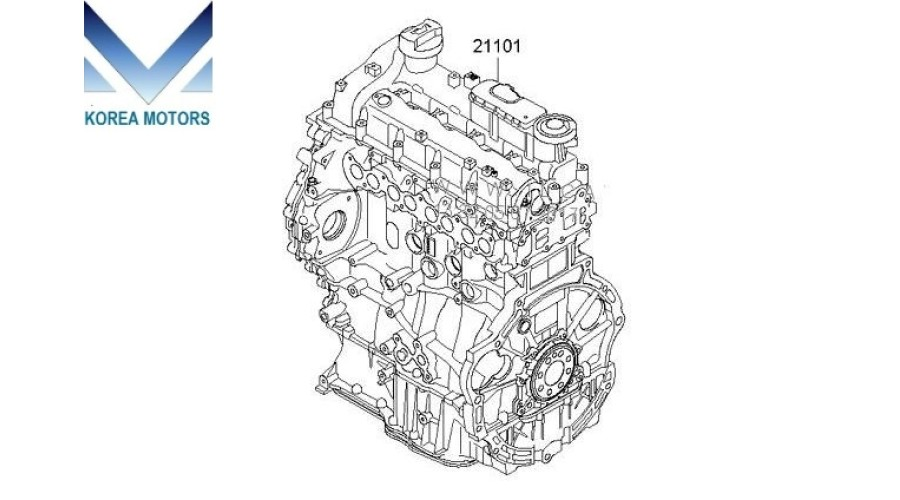 NEW ENGINE DIESEL A2 D4HA ASSY-COMPLETE SET MODULE FROM