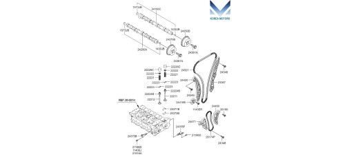 MOBIS TIMING CHAIN KIT OF ENGINE G4KD FOR KIA / HYUNDAI