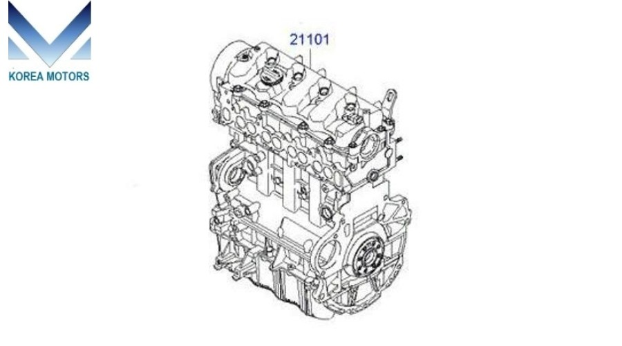 NEW DIESEL ENGINE D4EB ASSY COMPLETE FOR HYUNDAI SANTA FE