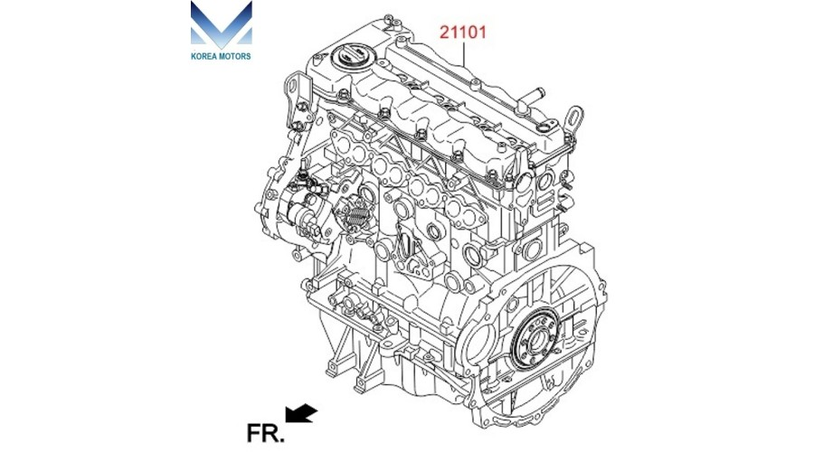 NEW ENGINE DIESEL D4FB COMPLETE SET FOR HYUNDAI KIA 2012