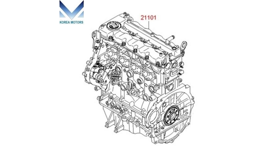 NEW ENGINE DIESEL U2 D4FD COMPLETE SET FOR HYUNDAI KIA
