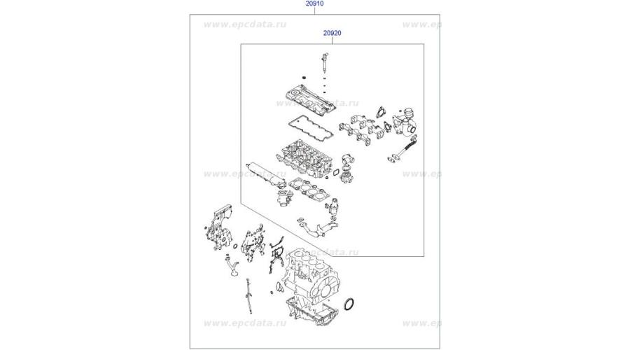 NEW GASKET KIT-ENGINE OVERHAUL SET FOR ENGINE DIASEL D4FA