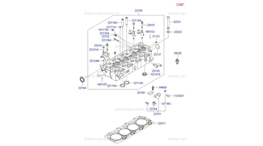 NEW GASKET-CYLINDER HEAD SET FOR ENGINE DIASEL D4BF D4BH