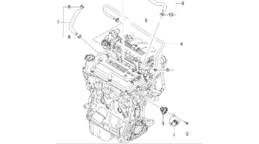 NEW ENGINE GASOLINE B12D1 EURO-3-4 ASSY-SUB SET CHEVROLET