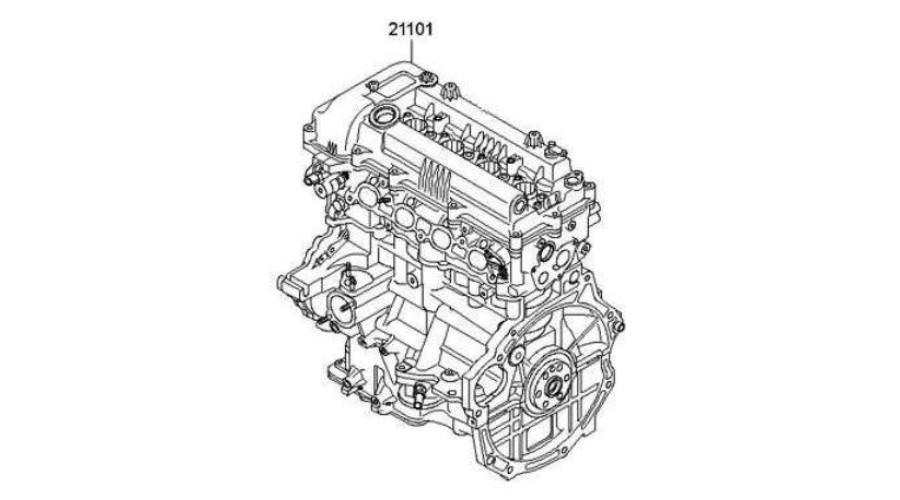 NEW ENGINE GASOLINE G4FG EURO-4-5 SUB-MODULE SET FOR