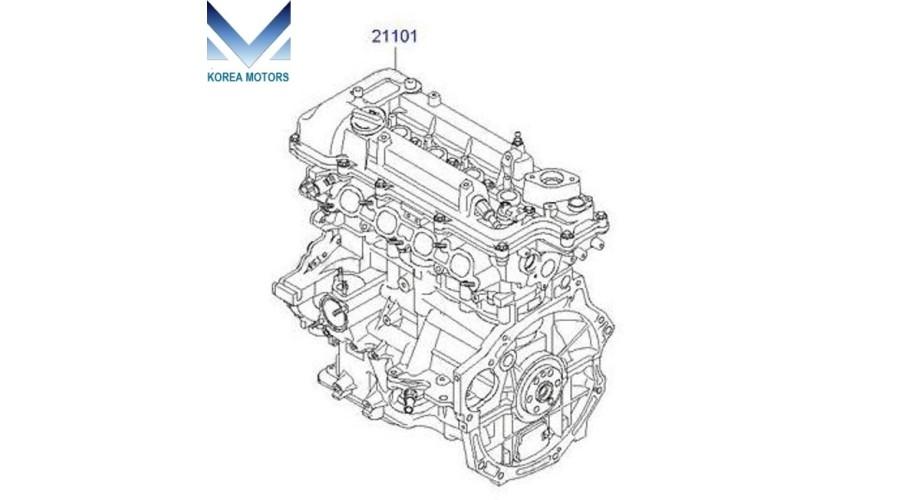 USED ENGINE GASOLINE G4FD EURO-5 ASSY-SUB COMPLETE SET