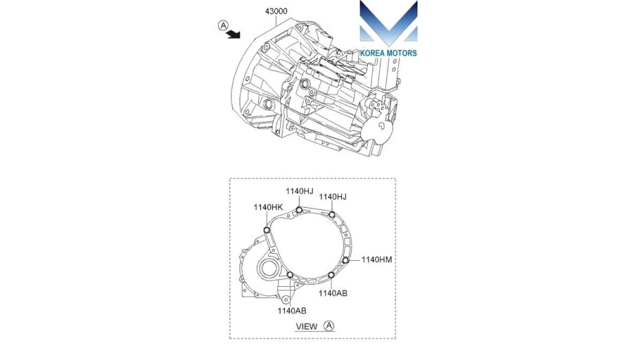 MOBIS USED TRANSMISSION ASSY-MANUAL 2WD SET FOR KIA