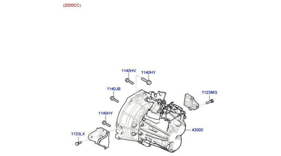 MOBIS NEW TRANSMISSION ASSY-MANUAL 2WD SET FOR HYUNDAI
