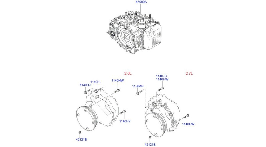 MOBIS NEW TRANSMISSION ASSY-ATA 4WD SET FOR HYUNDAI SANTA