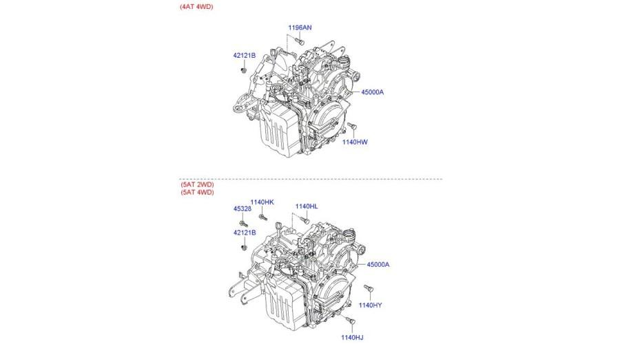 MOBIS NEW TRANSMISSION ASSY-ATA 2WD SET FOR HYUNDAI SANTA