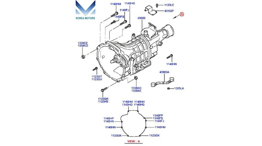 MOBIS USED TRANSMISSION ASSY-MANUAL 2WD SET FOR HYUNDAI