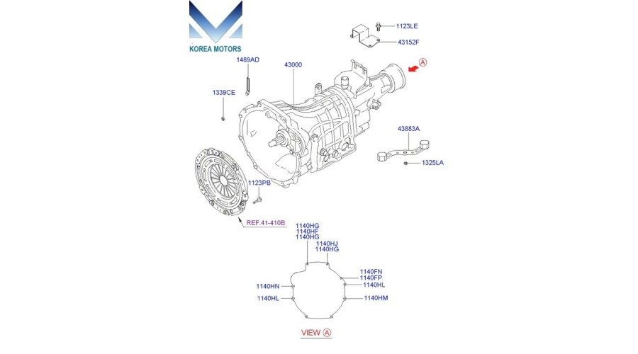 MOBIS USED TRANSMISSION ASSY-MANUAL 4WD SET FOR HYUNDAI