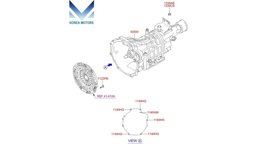NEW MANUAL TRANSMISSION 5-SPEED 2WD SET FOR HYUNDAI STAREX