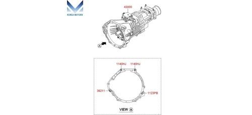 NEW MANUAL TRANSMISSION 6-SPEED 2WD SET FOR HYUNDAI STAREX