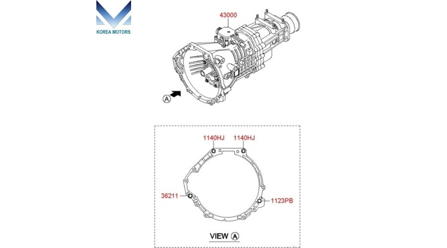 NEW MANUAL TRANSMISSION 6-SPEED 2WD SET FOR HYUNDAI STAREX