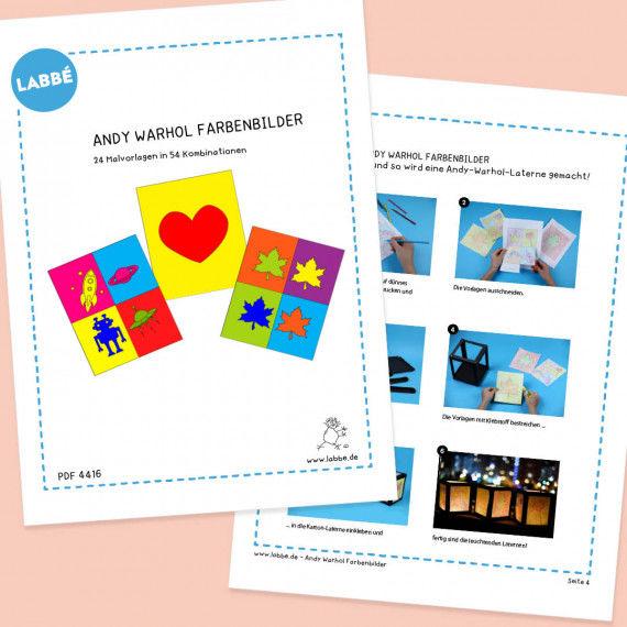 Andy Warhol Farbenbilder PDF - Für Laternen - Malvorlagen
