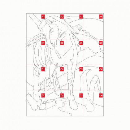 Das Blaue Pferd Malvorlage - Ausmalbilder und Vorlagen
