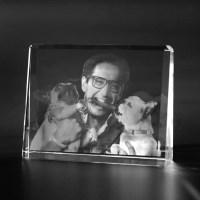 3D Crystal Glasfoto  2D Laser Foto, Laserbild im ...