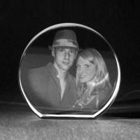 3D Crystal Glasfoto  2D Laser Foto, Laserbild im runden ...
