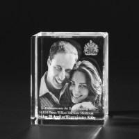3D Crystal Glasfoto  3D Laser Portrait vom Foto in Glas 764
