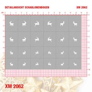 XM2062 Klebeschablonen