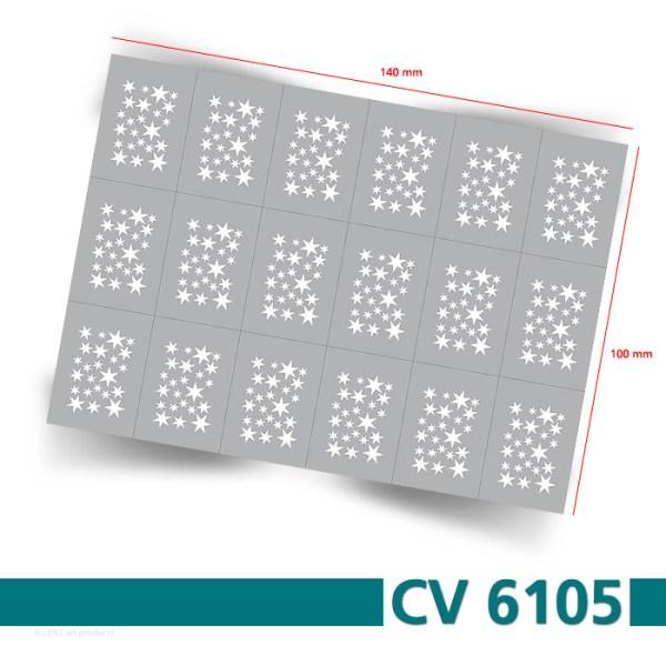 CV6105 Klebeschablonen