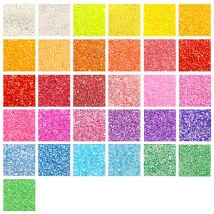 Glitter Pastell Übersicht