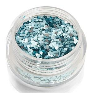 Holoblättchen Hellblau, metallic-glossy