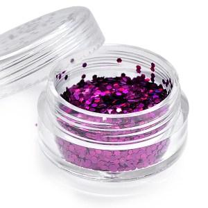 Holoblättchen Pink, irisierend-metallic