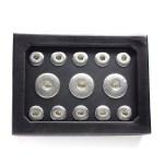 Snap-Schmuckbox, schwarz für M & XL Click-Buttons 2