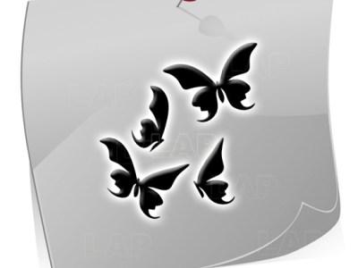 Klebeschablone Airbrushnails BF3521