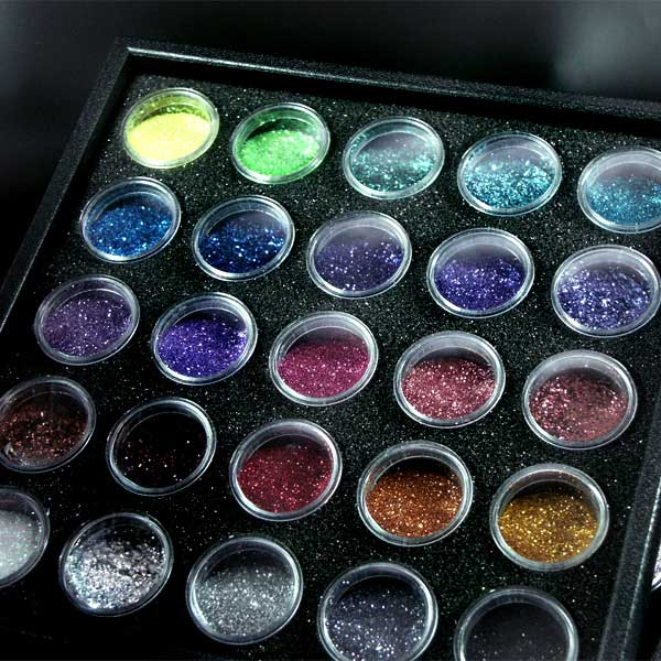 Glitter Sortier-Display