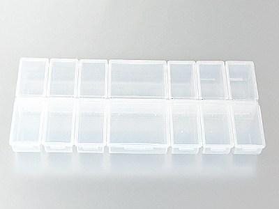 Klappbox mit 14 Fächern, leer