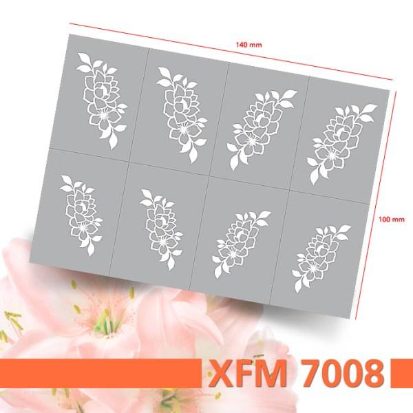 Klebeschablonen für Airbrush Nailart-Nummer XFL7008