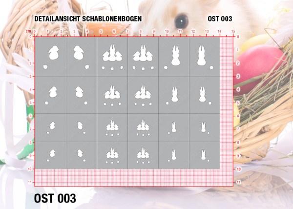 Nailart Airbrush Klebeschablonen Ostern OST003