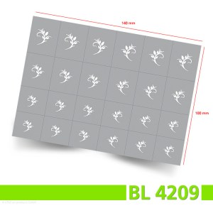 Nailart Airbrush Klebeschablonen Blätter BL4209