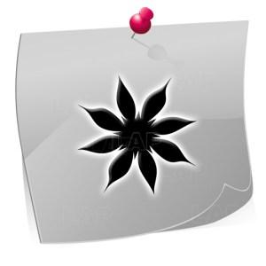 24 Nailart Airbrush Klebeschablonen Blumen BL4332, selbstklebend, Airbrushnailart