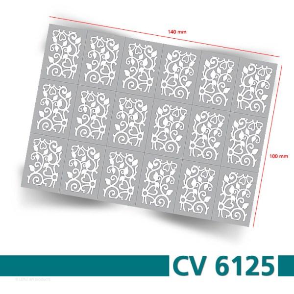 Nailart Airbrush Klebeschablonen Fullcover CV6125 Bogengröße
