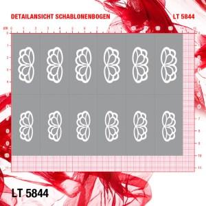 Airbrushschablone LT5844, Stiletto XL, selbstklebend