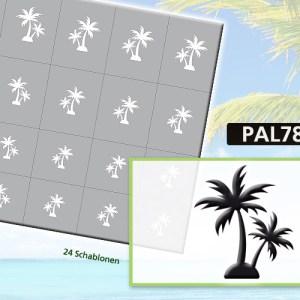 Klebeschablonen PAL7870, Nailart Airbrush Schablonen Palmen