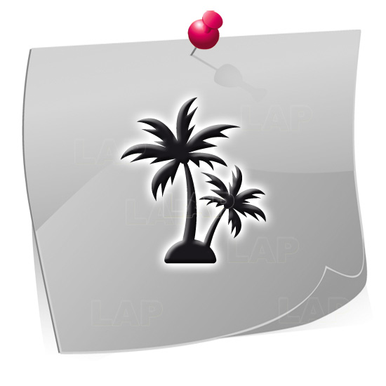 Klebeschablonen PAL7870, Nailart Airbrush Schablonen Palmen, Sommer, Strand
