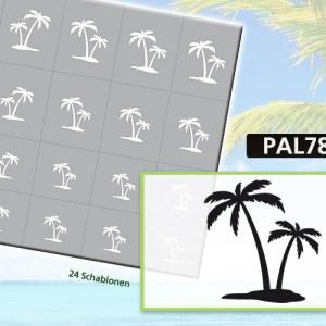Klebeschablonen PAL7873, Nailart Airbrush Schablonen Palmen, Sommer, Strand