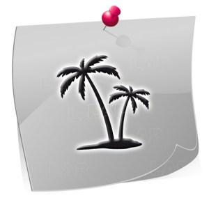 Klebeschablonen PAL7873, Nailart Airbrush Schablonen Palmen