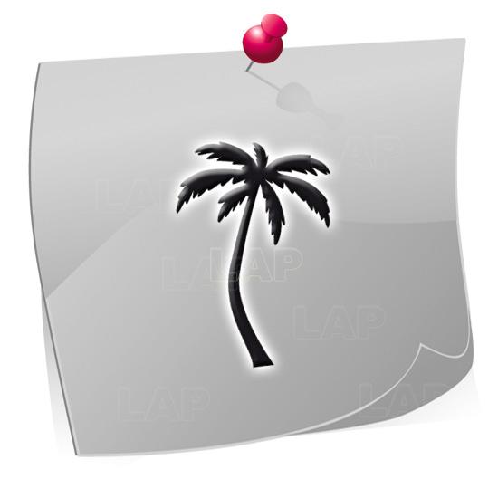Klebeschablonen PAL7874, Nailart Airbrush Schablonen Palmen, Sommer, Strand